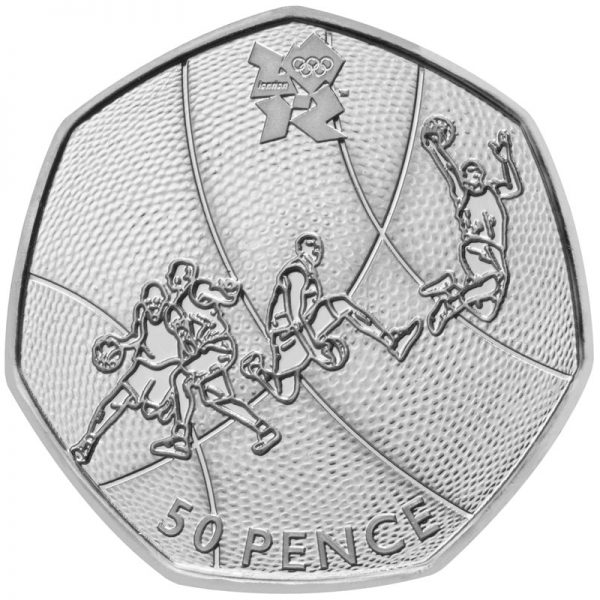 2011 Basketball Olympic 50p